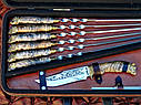 "VIP набор шампуров ""Царская охота"" 47см с ручкой из капа клена, фото 2"