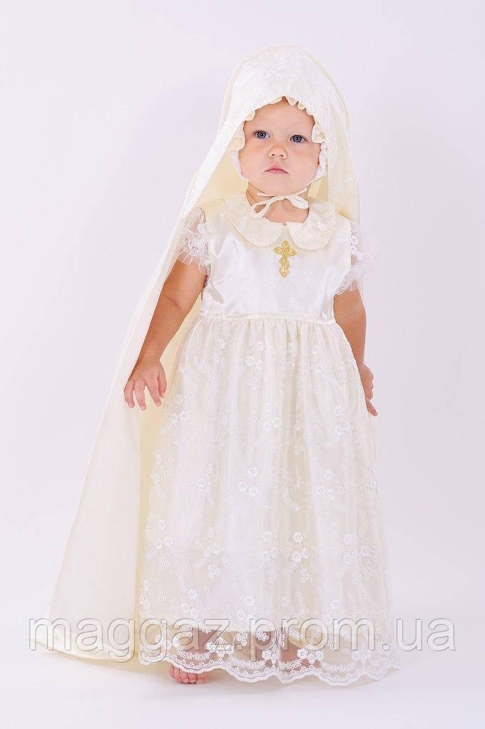 Крестильное платье с крыжмой из гипюра (молочный) - MaGaz - Игрушки, Подарки, TV-Shop, Светильники,товары для дома.Одежда для беременных и кормления. в Запорожской области