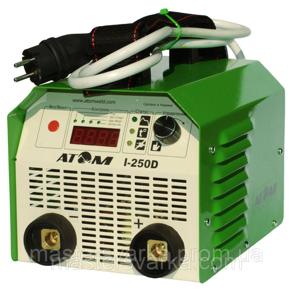 Сварочный инверторный аппарат Атом I-250D без кабелей, с байон. штекерами Abicor Binzel