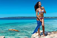 Стильное парео пляжное однотонное Pareo 7291 разные цвета, фото 1