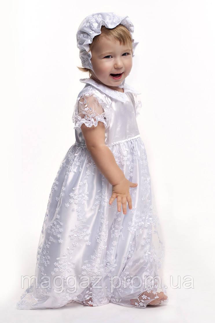Крестильное платье с крыжмой из гипюра (белый) - MaGaz - Игрушки, Подарки, TV-Shop, Светильники,товары для дома.Одежда для беременных и кормления. в Запорожской области