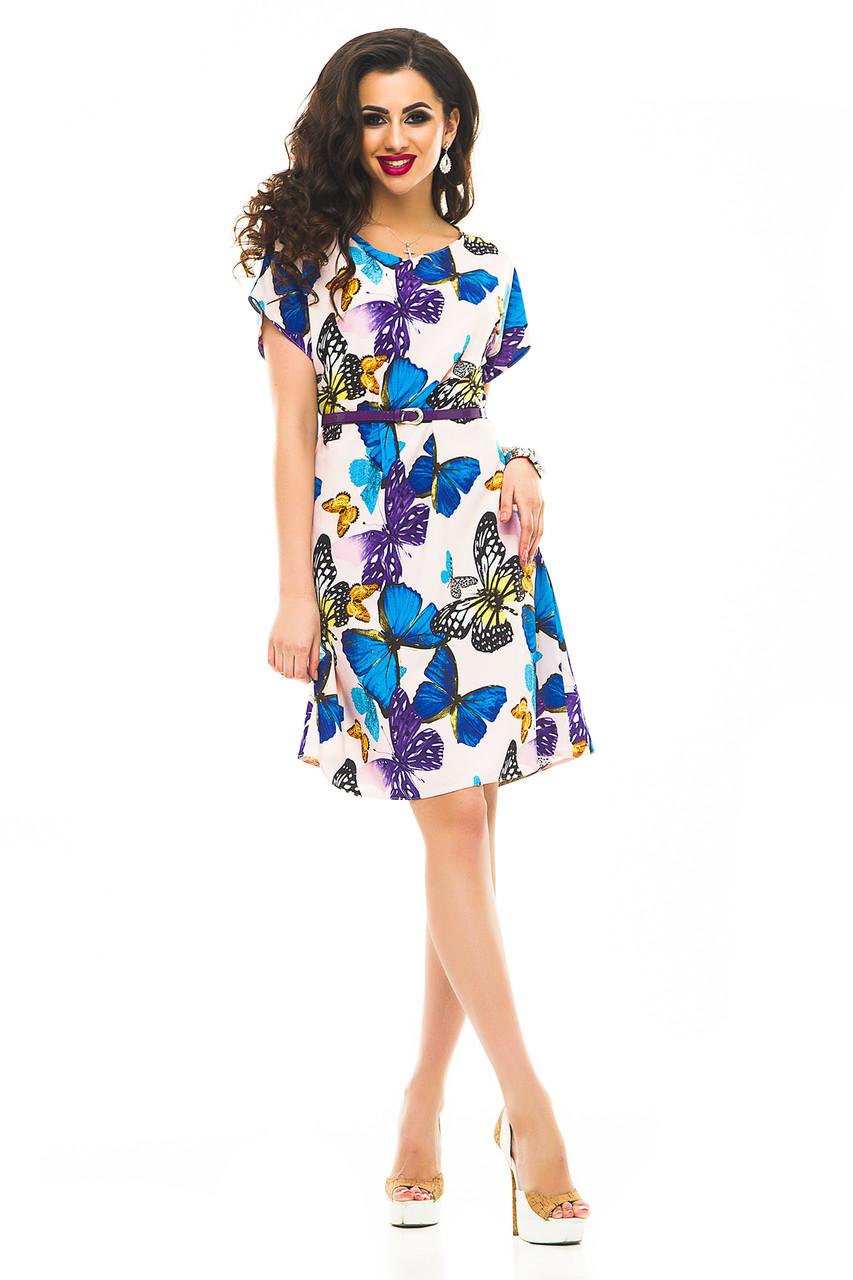 Платье 326 с ремнем бабочка 46-48