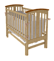 Красивая кроватка Mia для новорожденных с поперечным механизмом качания ТМ WoodMan Натуральный