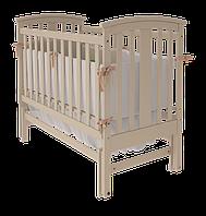 Детская кроватка Mia для новорожденных с поперечным качанием с ящиком и без ТМ WoodMan Слоновая кость