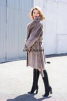 Меховое пальто из южно-американского бобра с  норковой отделкой. Производство Украина