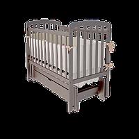 Колыбельная кроватка Teddy УМК с маятниковым механизмом (с / без ящика) ТМ WoodMan Шоколадный