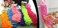 Детское полотенце-игрушка зверюшки из микрофибры