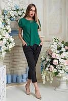 Блузка  Эвелина  зеленый