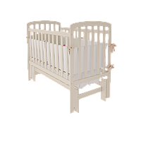 Белая детская кроватка Teddy УМК с продольным / поперечным маятником ТМ WoodMan Белоснежный