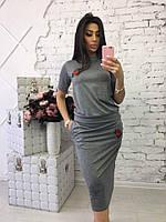 Женский стильный костюм: футболка и юбка , фото 1