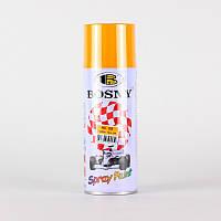Акриловая аэрозольная спрей-краска BOSNY NO.25 LEMON YELLOW (желтый лимон), 400мл