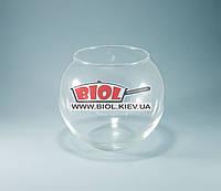 Ваза аквариум 3,5л (шарообразная) стеклянная (h 16см, d 19см)