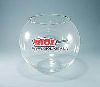 Ваза аквариум 5,3л (шарообразная) стеклянная (h 19см, d 22см)