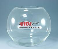Ваза аквариум 6,6л (шарообразная) стеклянная (h 19,5см, d 23см)