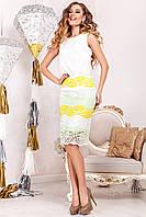 Красивый летний костюм с 3D гипюром юбка+майка (3 расцветки)