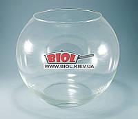 Ваза аквариум 9л (шарообразная) стеклянная (h 23см, d 28см)