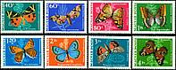 Венгрия 1969 - бабочки - MNH XF