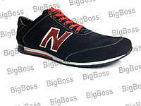 Мужские кроссовки больших размеров К-20 красные нубук