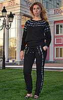 """Женский спортивный костюм """"Chanel"""" из трикотажа (Турция); разм 42,44,46,48; 2 цвета"""