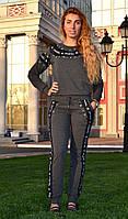 """Женский спортивный костюм """"Chanel"""" из трикотажа (Турция); разм 42,44,46,48; 2 цвета, фото 1"""