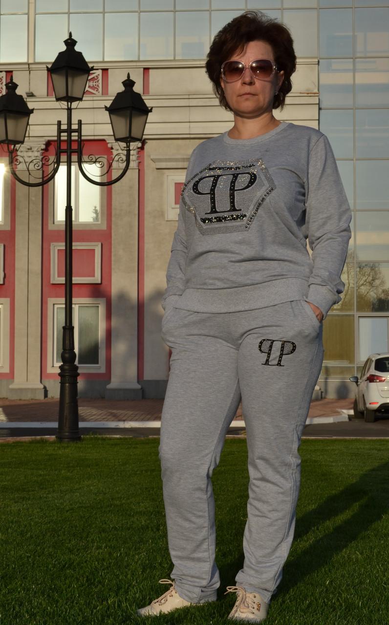 """Жіночий спортивний костюм """"PHILIP PLEIN"""" з трикотажу (Туреччина); розм 48,50,52,54; 2 кольори"""
