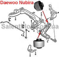 Сайлентблок Daewoo Nubira (Комплект 4шт) ПЕРЕДНИХ РЫЧАГОВ - ЦЕЛЬНОЛИТЫЕ