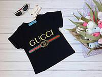 """Модная детская футболка """"Gucci"""" (интерлок, качественная накатка, короткий рукав) РАЗНЫЕ ЦВЕТА!"""