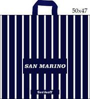Пакет с петлевой ручкой (50x47+10/110 мк)Сан Марино Джерела(25шт/уп.)