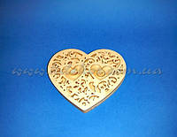 Ажурное сердце для колец №1 заготовка для декора