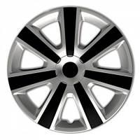 4 RACING VR Silver&Black R13 КОЛПАКИ ДЛЯ КОЛЕС (Комплект 4 шт.)
