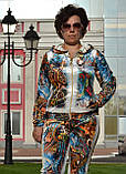 """Жіночий велюровий турецький костюм """"EZE"""" зі стразами ; розм 50,52,54,56, фото 2"""