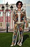 """Женский велюровый турецкий костюм """"EZE"""" со стразами ; разм 50,52,54,56, 2 цвета , фото 2"""