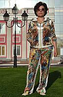 """Женский велюровый турецкий костюм """"EZE"""" со стразами ; разм 50,52,54,56, 2 цвета , фото 1"""