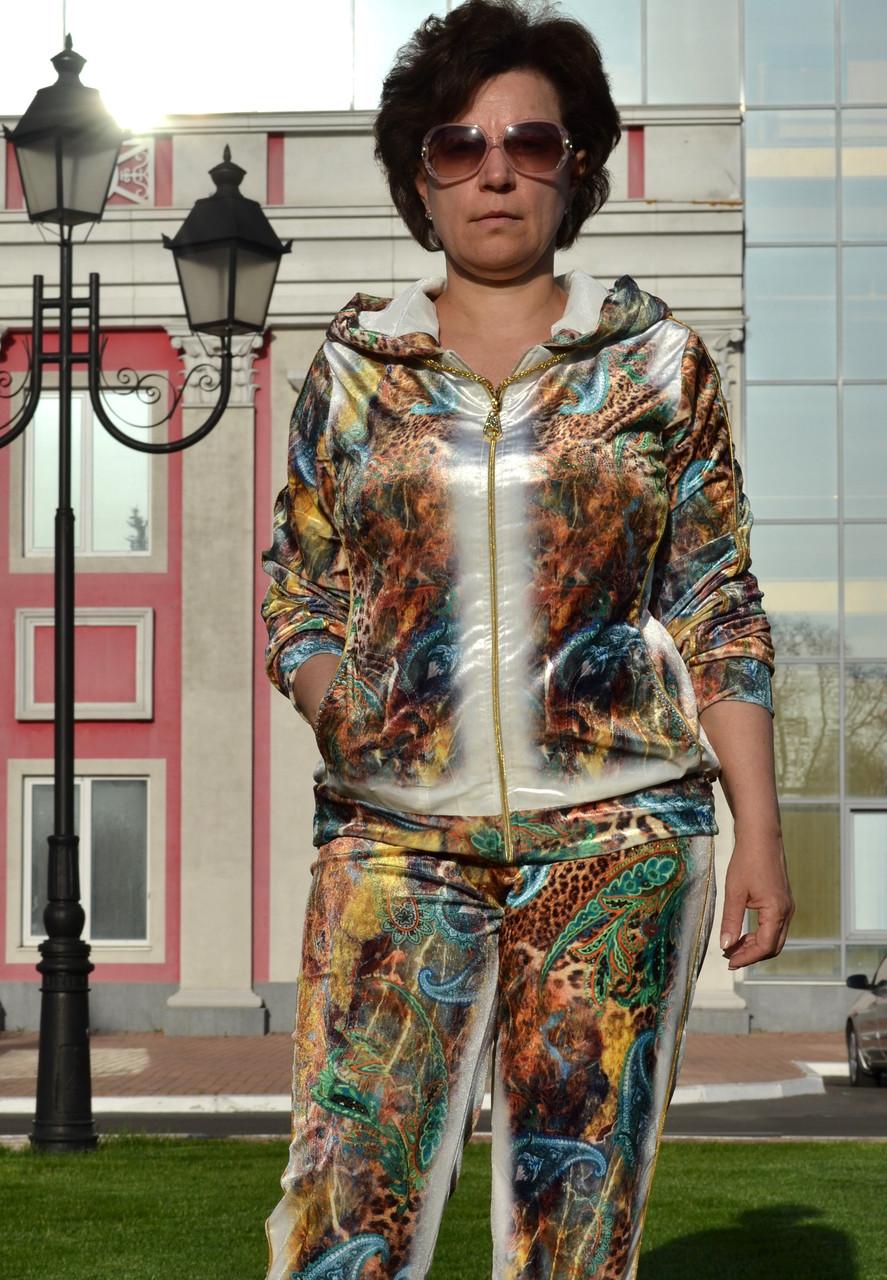 """Жіночий велюровий турецький костюм """"EZE"""" зі стразами ; розм 50,52,54,56, 2 кольори"""