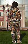 """Жіночий велюровий турецький костюм """"EZE"""" зі стразами ; розм 50,52,54,56, 2 кольори, фото 3"""