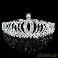 Диадема, тиара, корона, свадебное украшение для головы невесты, на выпускной
