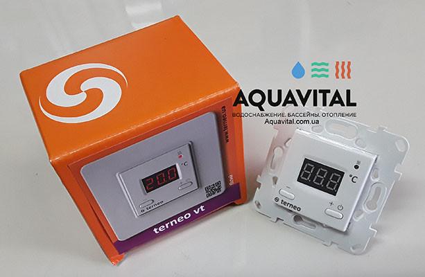 Комнатный накладной терморегулятор Terneo VT с электронным табло