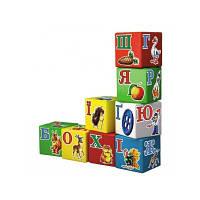 Пластмассовая игрушка Кубики Алфавит украинский Технок 1806