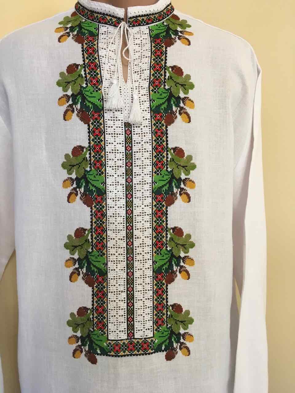 Біла вишита сорочка чоловіча вишита на полотні 52 розмір  продажа ... 44169892c43aa