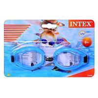 Очки для плавания Intex, на листе, старше 8 лет  (ОПТОМ) 55608