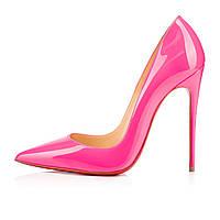 Louboutin So Kate 10 cm  Dark Pink 3140495P144 Кожа Розовые лодочки Лабутены Туфли