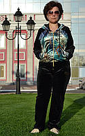 Велюровый женский спортивный турецкий костюм EZE купить разм 50,52,54,56 баталы