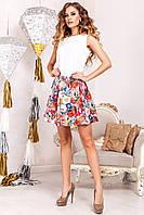 Эффектный летний костюм юбка+блуза (2 расцветки)