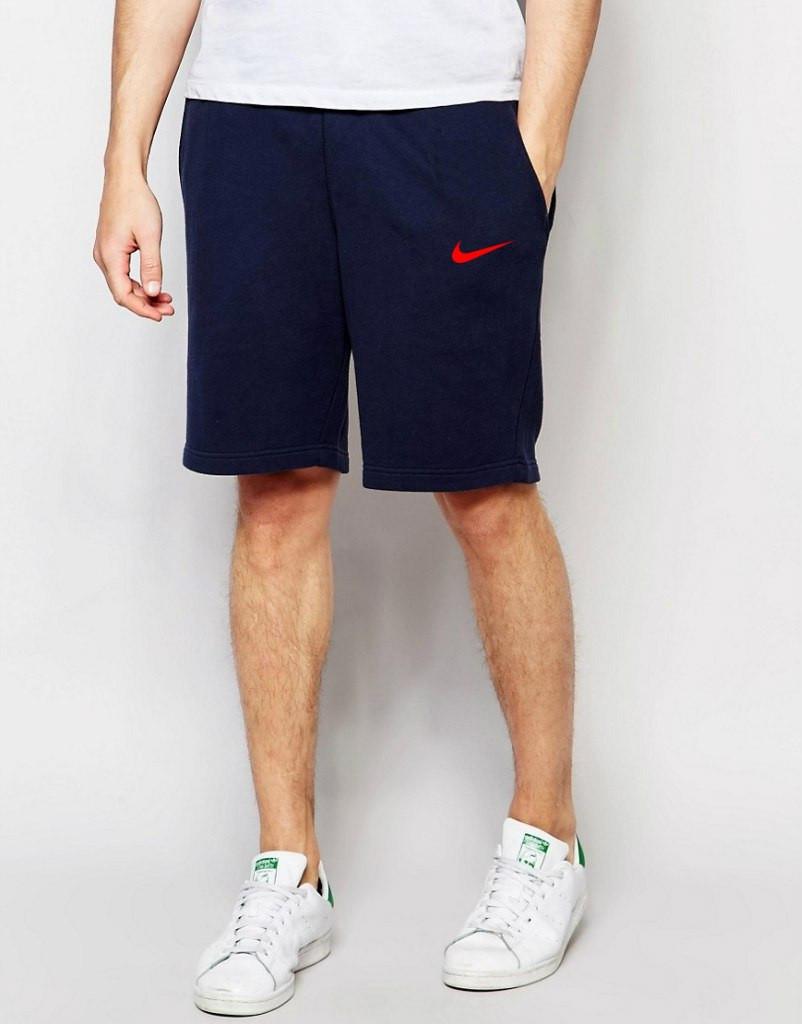 Шорты Nike синие красный знчёк
