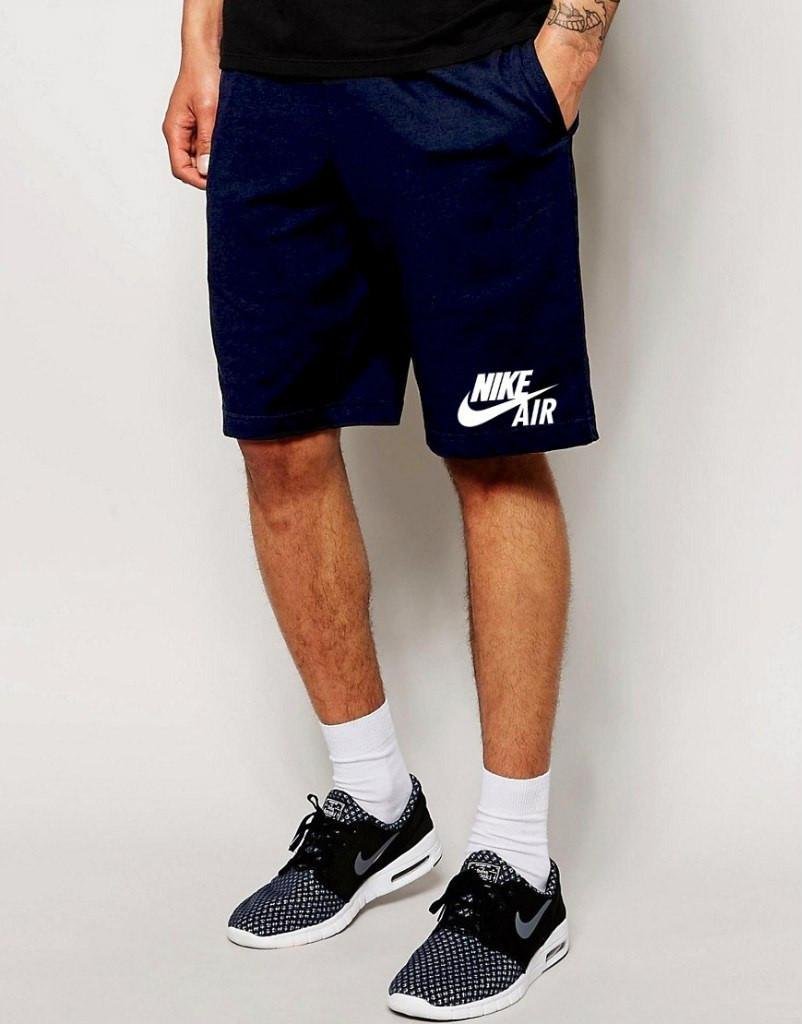 Шорты Nike Air синие трикотажные