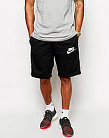 Шорты Nike мужские белая галочка+лого