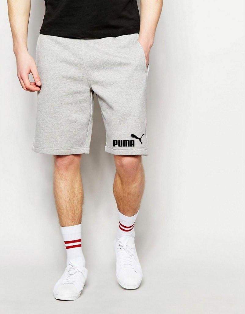 Шорты Puma мужские серые значёк+лого
