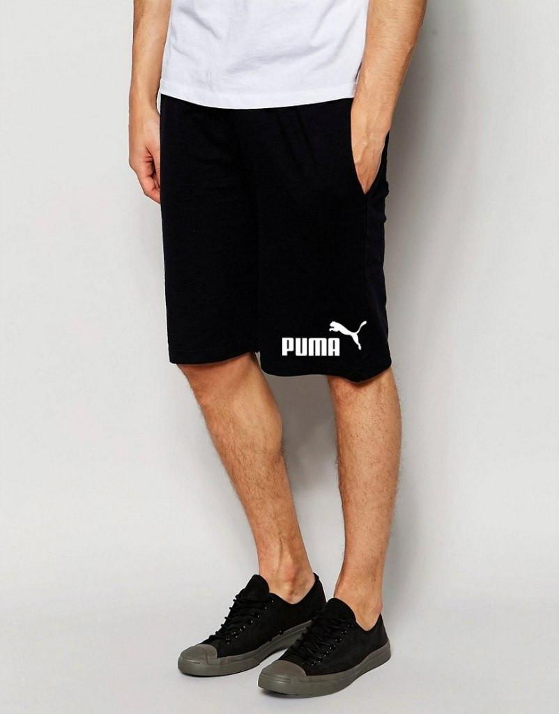 Шорты Puma Пума чёрные значёк+лого