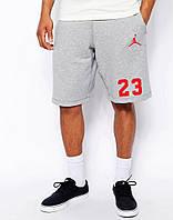 Шорты Jordan серые 23+значёк красный