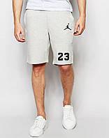 Шорты Jordan серые 23+значёк чёрный